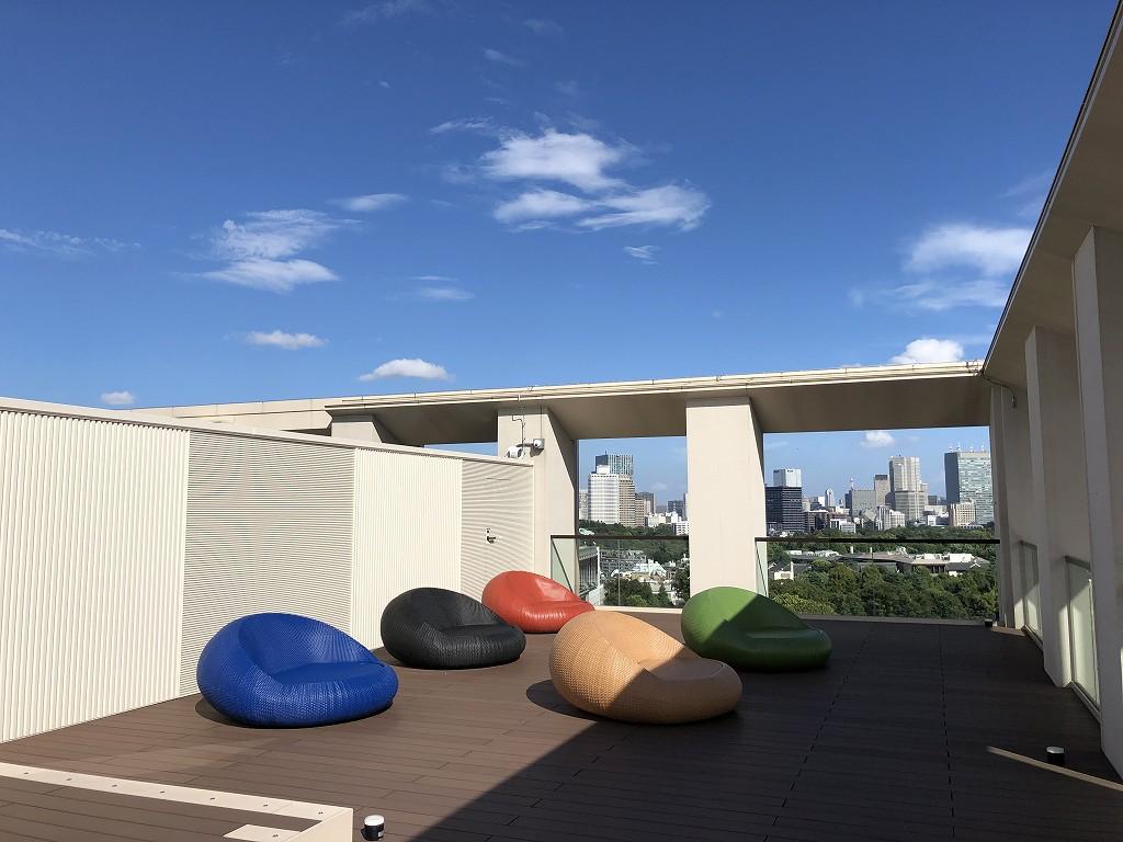 三井ガーデンホテル神宮外苑の杜プレミアの屋上テラス1