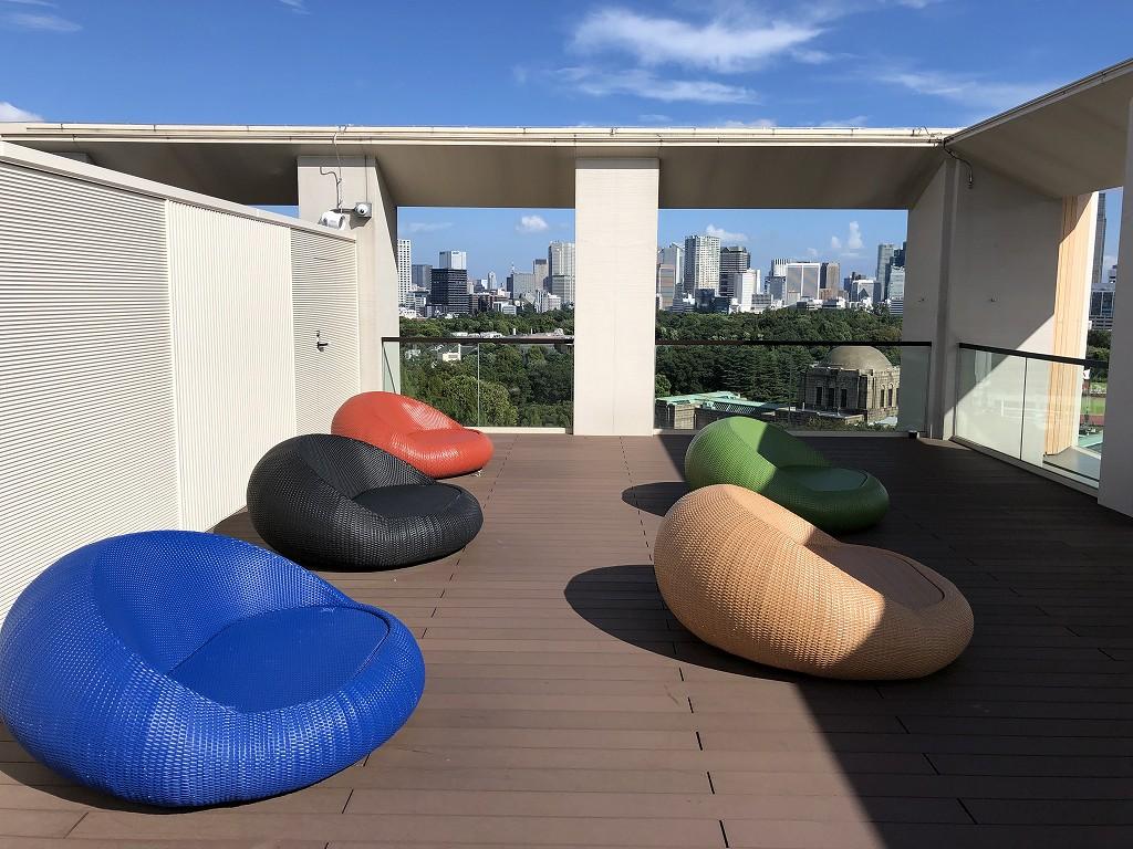 三井ガーデンホテル神宮外苑の杜プレミアの屋上テラス2