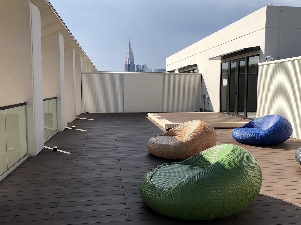三井ガーデンホテル神宮外苑の杜プレミアの屋上テラス3