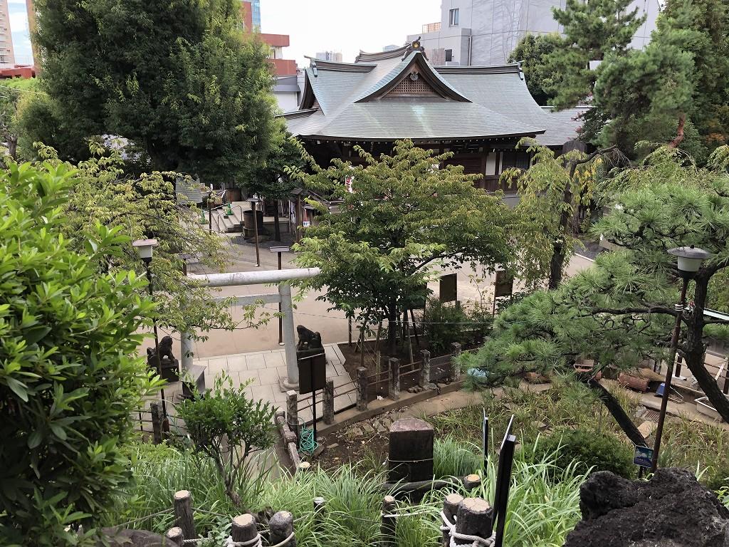 鳩森八幡神社の富士塚3