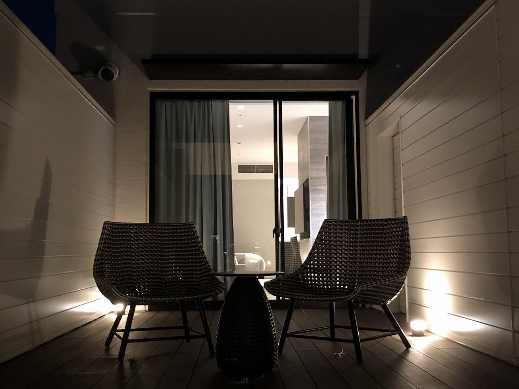 三井ガーデンホテル神宮外苑の杜プレミアのジュニアスイートキングのバルコニーから夕暮れ5