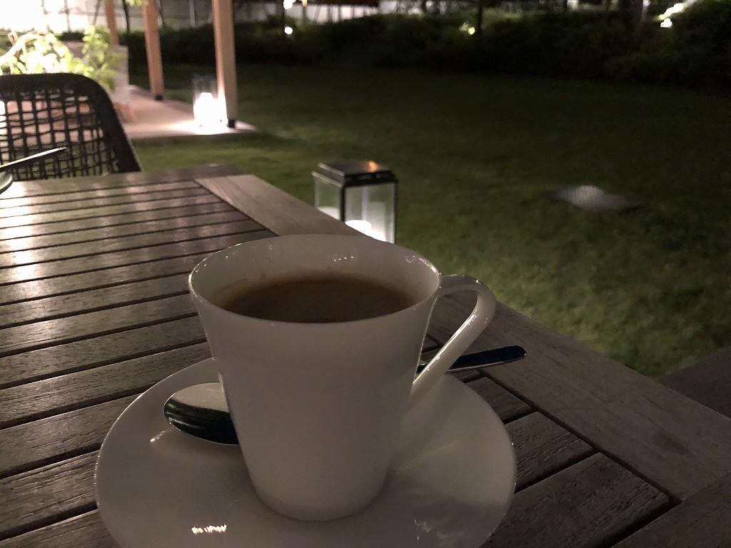 三井ガーデンホテル神宮外苑の杜プレミアのリストランテ&バー エボルタのコーヒー