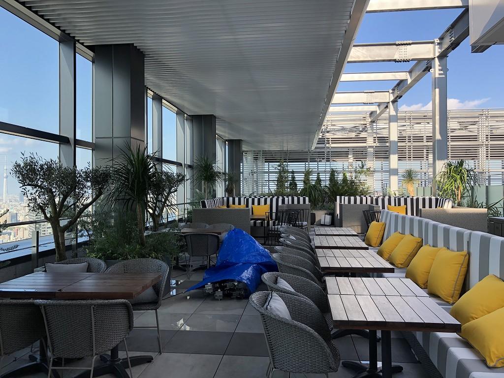 三井ガーデンホテル豊洲ベイサイドクロスのTHE PENTHOUSE with weekend terraceのルーフトップレストラン2