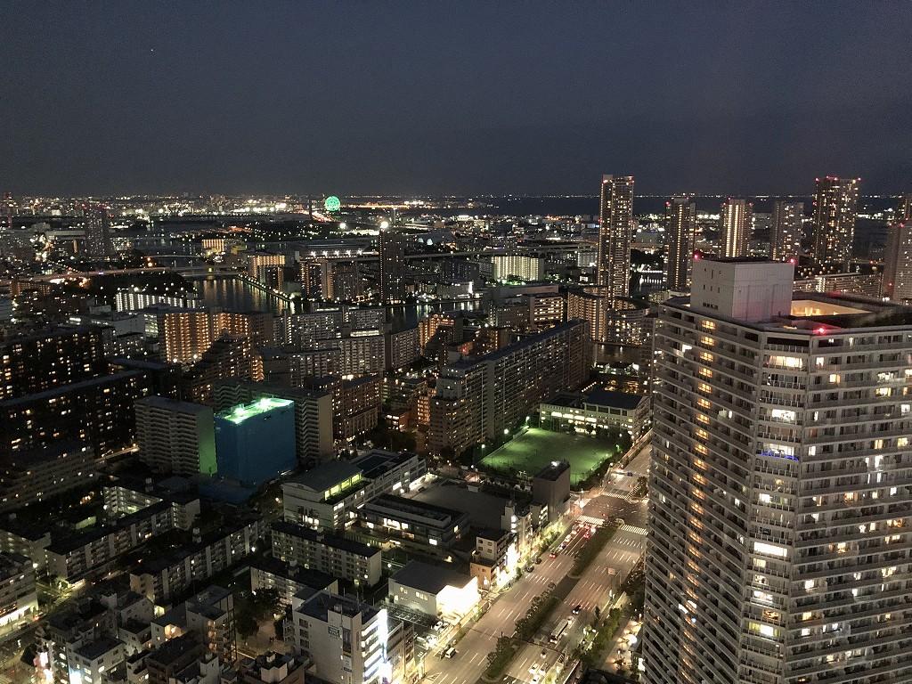 三井ガーデンホテル豊洲ベイサイドクロスの部屋からの夜景