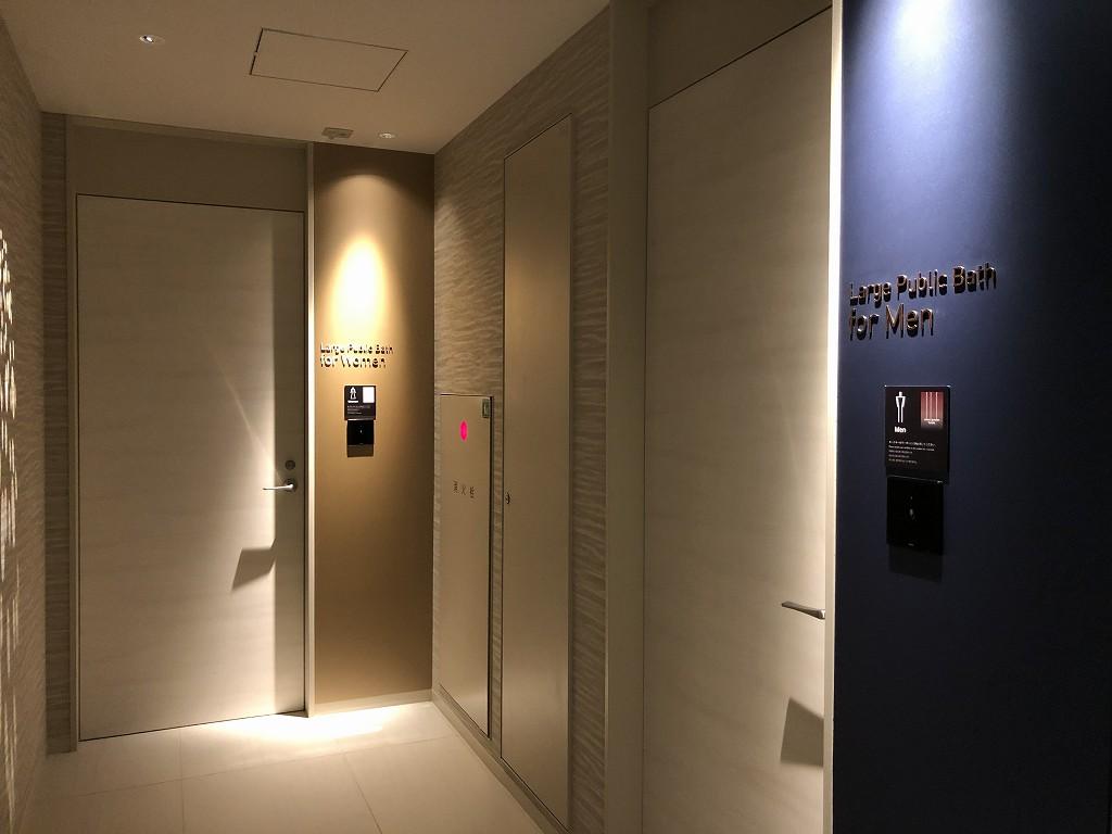 三井ガーデンホテル豊洲ベイサイドクロスの大浴場の入口