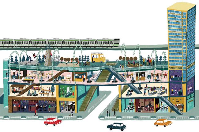 三井不動産によるミヤシタパークのイメージ図