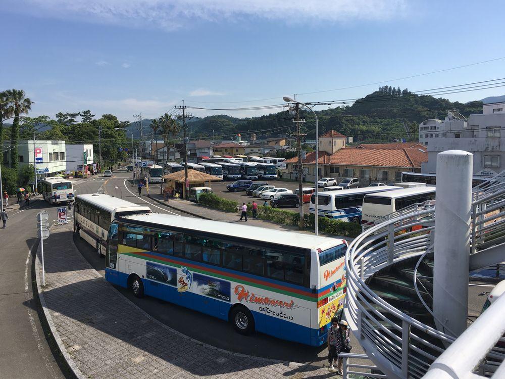 中国人観光客を乗せた観光バス