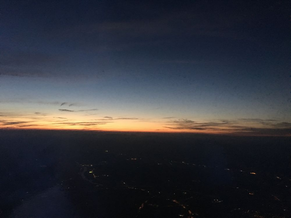 ANA3764便から見た夕焼け