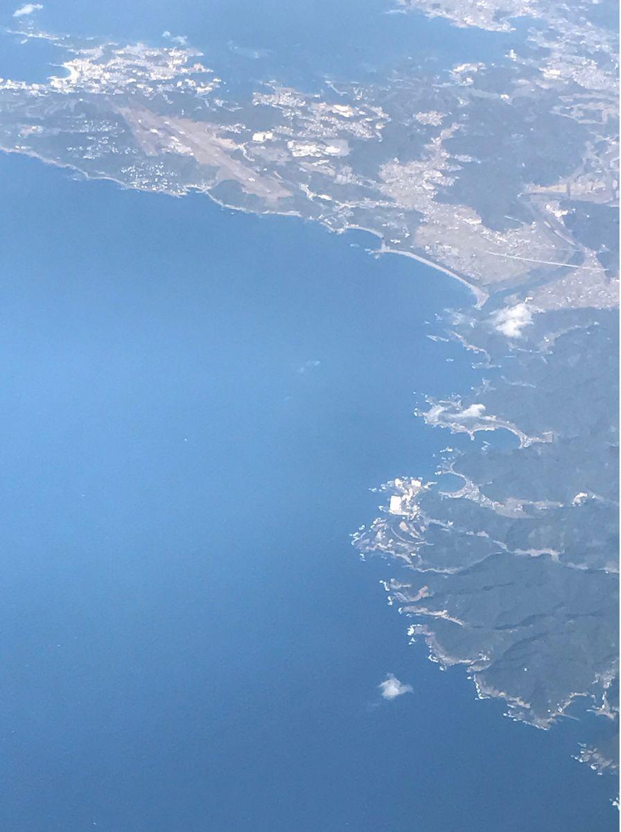 飛行機から南紀白浜空港