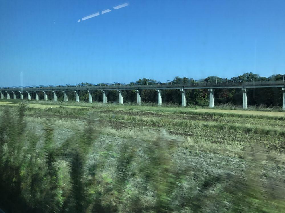宮崎県のリニア実験線の跡地のソーラーパネル2