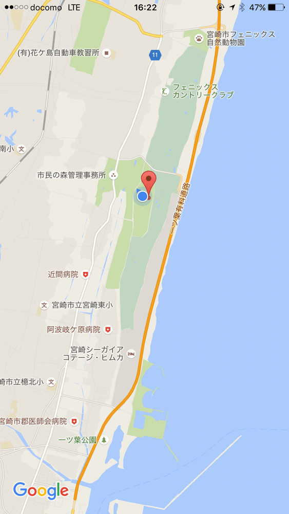 サンビーチ一ツ葉の位置
