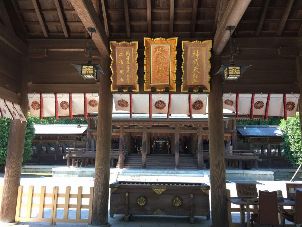 宮崎神宮本殿へ3