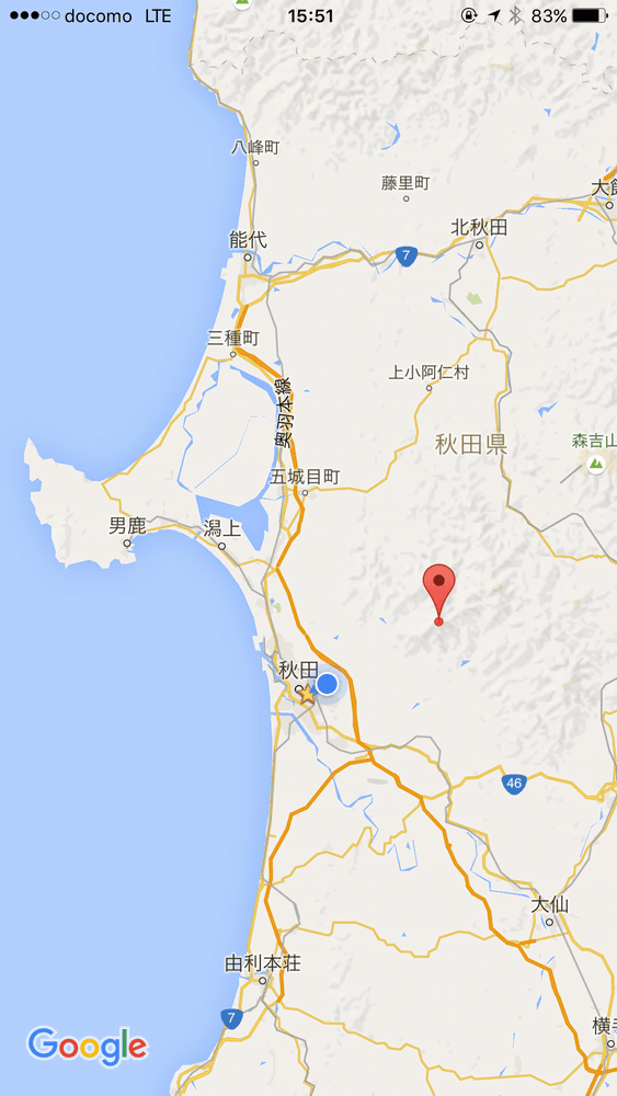 太平山の地図