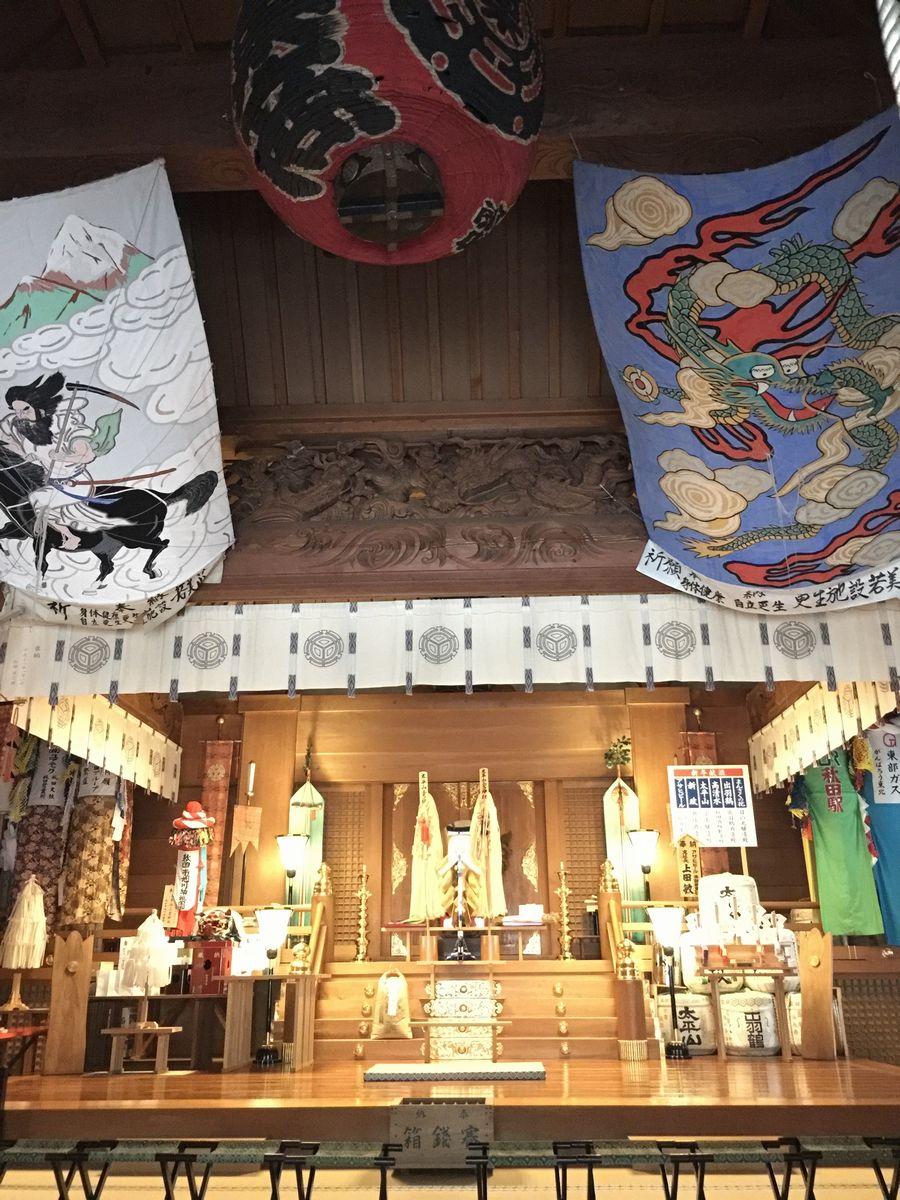 太平山三吉神社の社殿内部
