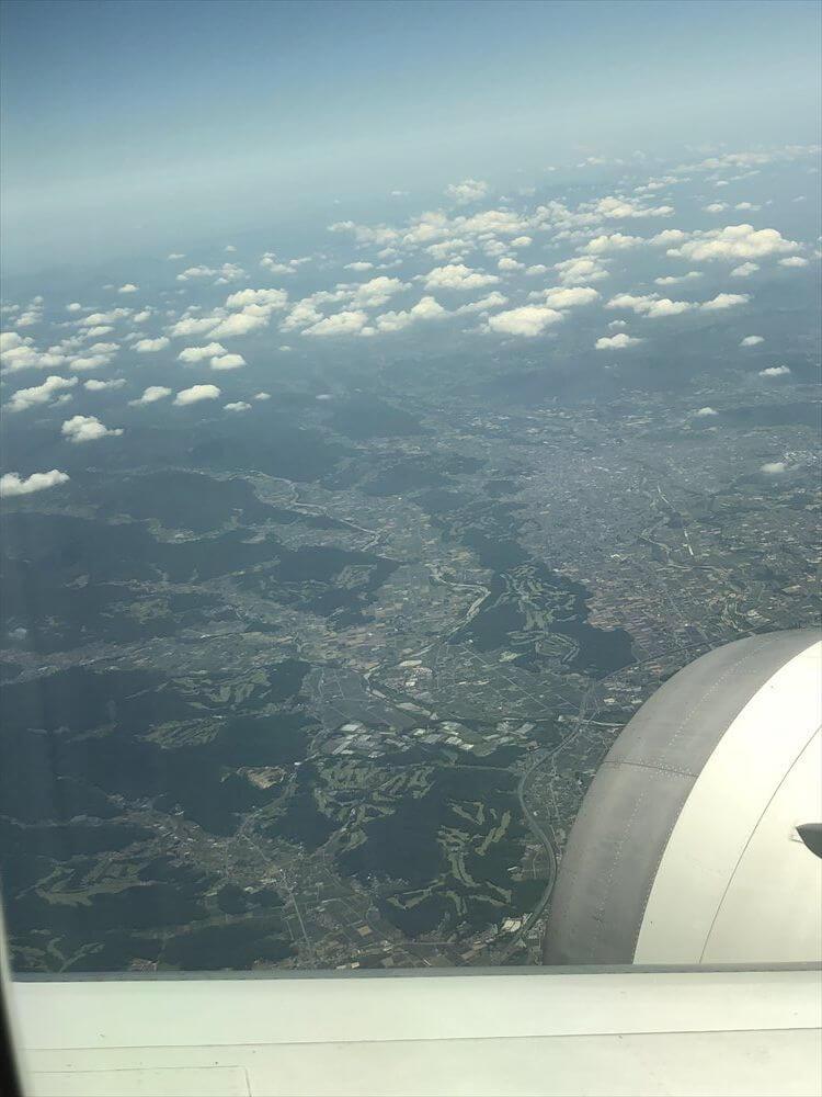 JAL421便ビジネスクラスの9Kからの眺め