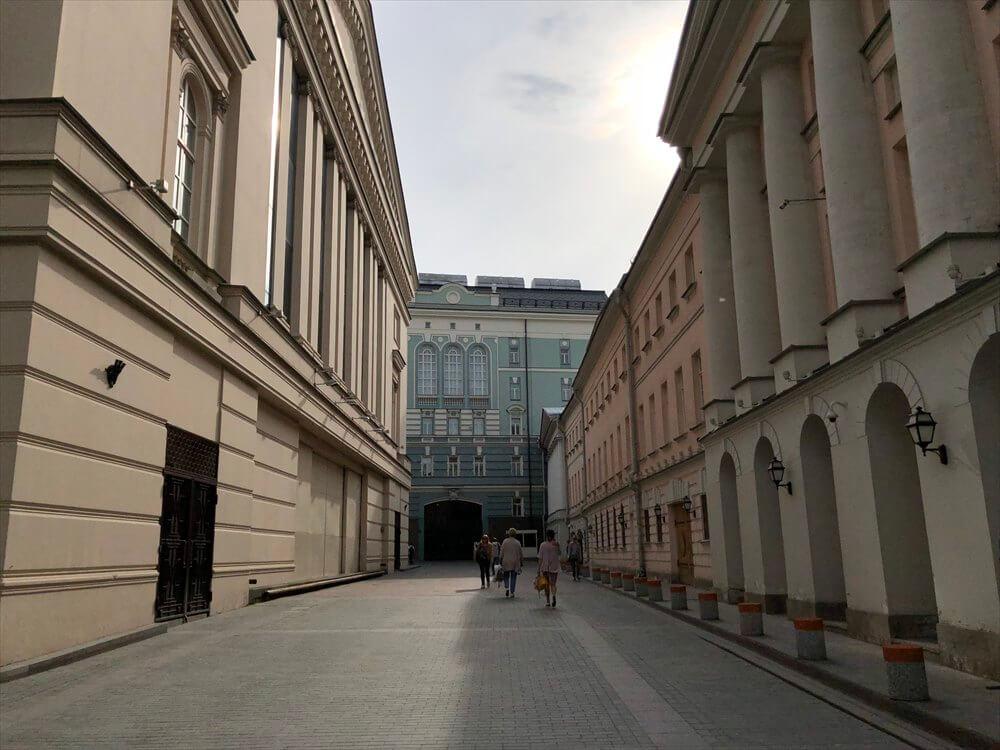 モスクワのカラフルな路地