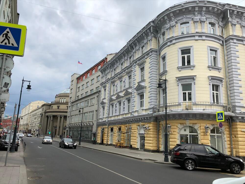 モスクワ マリオット ロイヤル オーロラ ホテル近くの街並み1