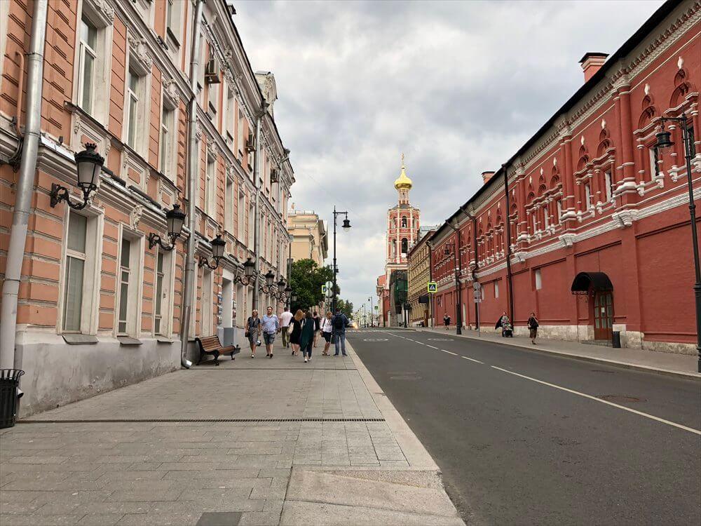 モスクワ マリオット ロイヤル オーロラ ホテル近くの街並み2