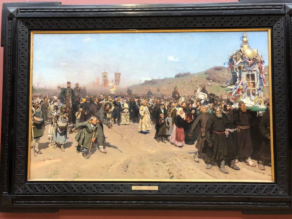 レーピンの「クールスク県の十字架行進」