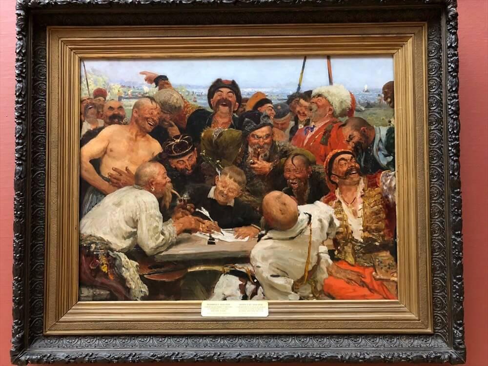 トレチャコフ美術館のレーピンの「ザポロージエ・コサック」