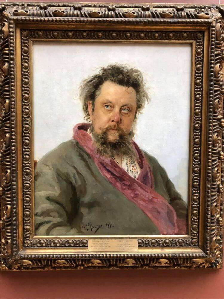 トレチャコフ美術館の「ムソグルスキーの肖像」