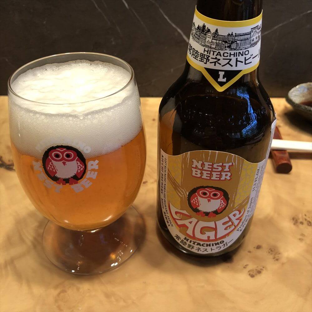 モスクワのFUMISAWA SUSHIの常陸野ビール