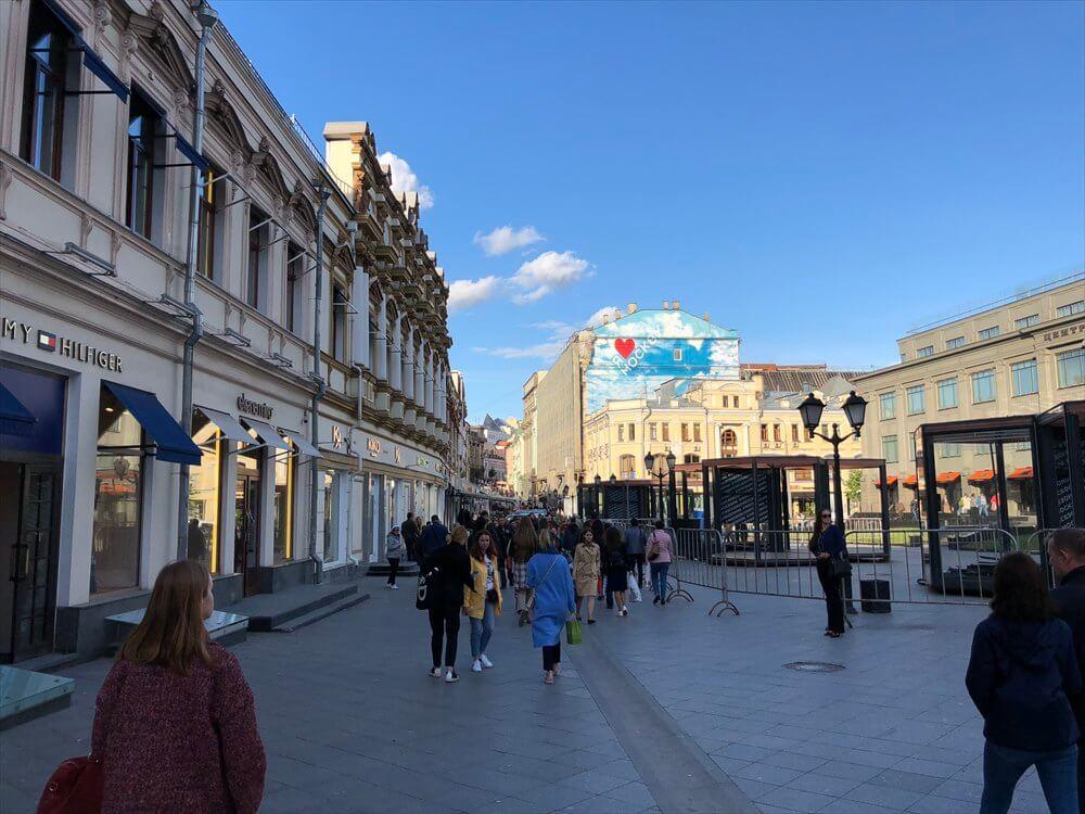 モスクワの傾斜のついた通り1