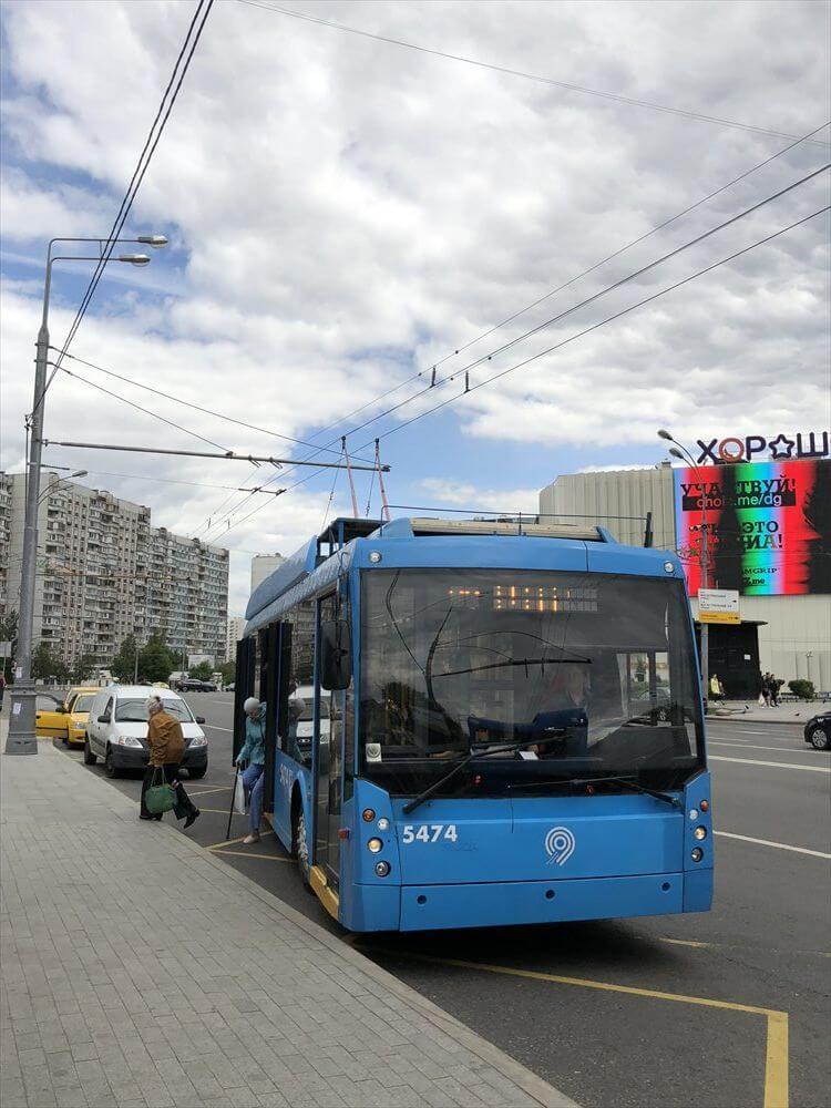 モスクワのバス乗り場