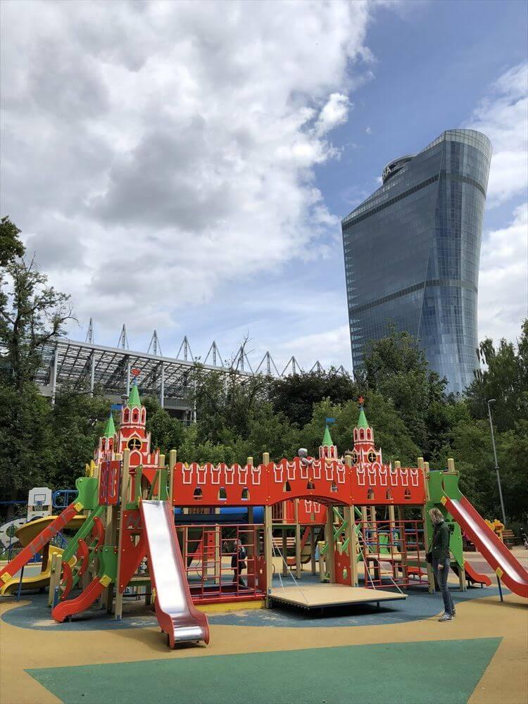 CSKAモスクワ スタジアム近くの公園