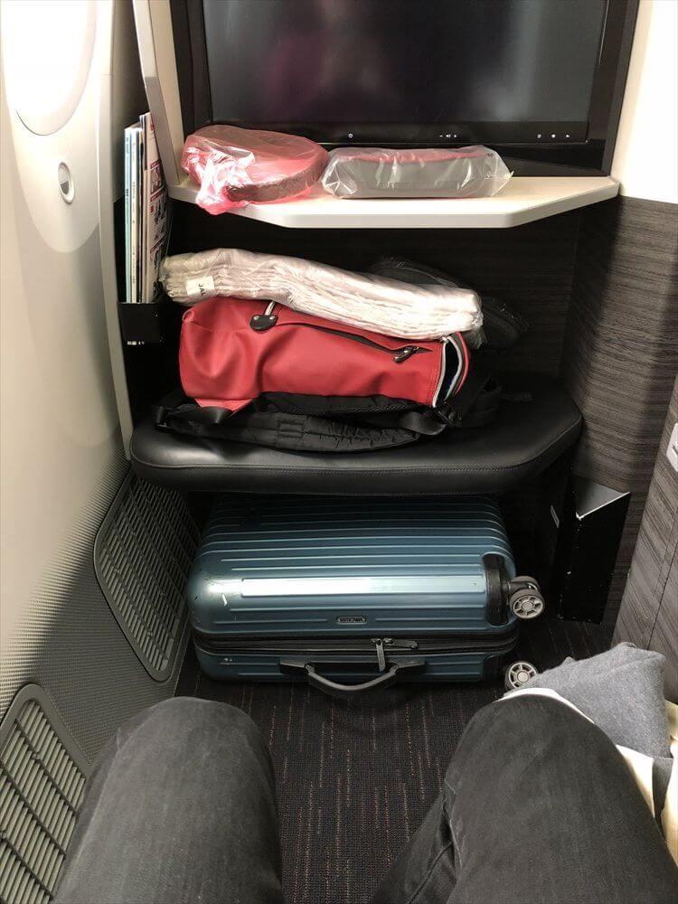 JAL422便ビジネスクラスの9A座席2