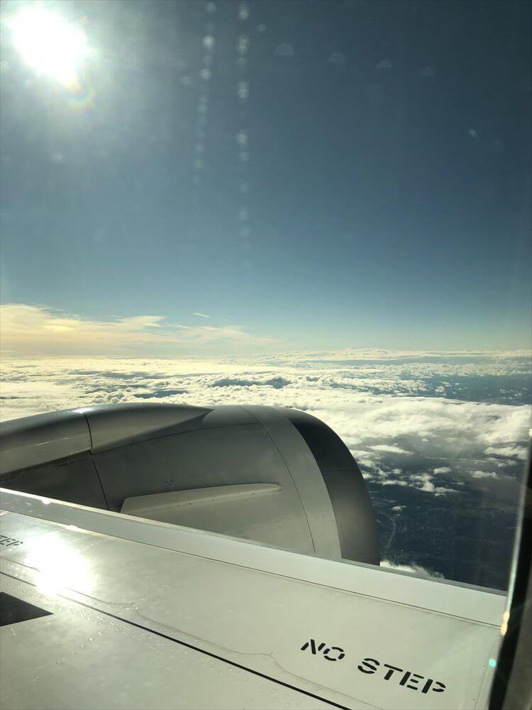 JAL422便ビジネスクラスの9A座席3