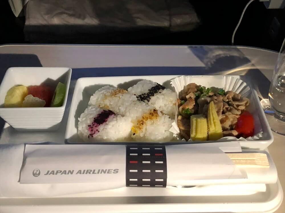 JAL422便ビジネスクラスの塩葱カルビ