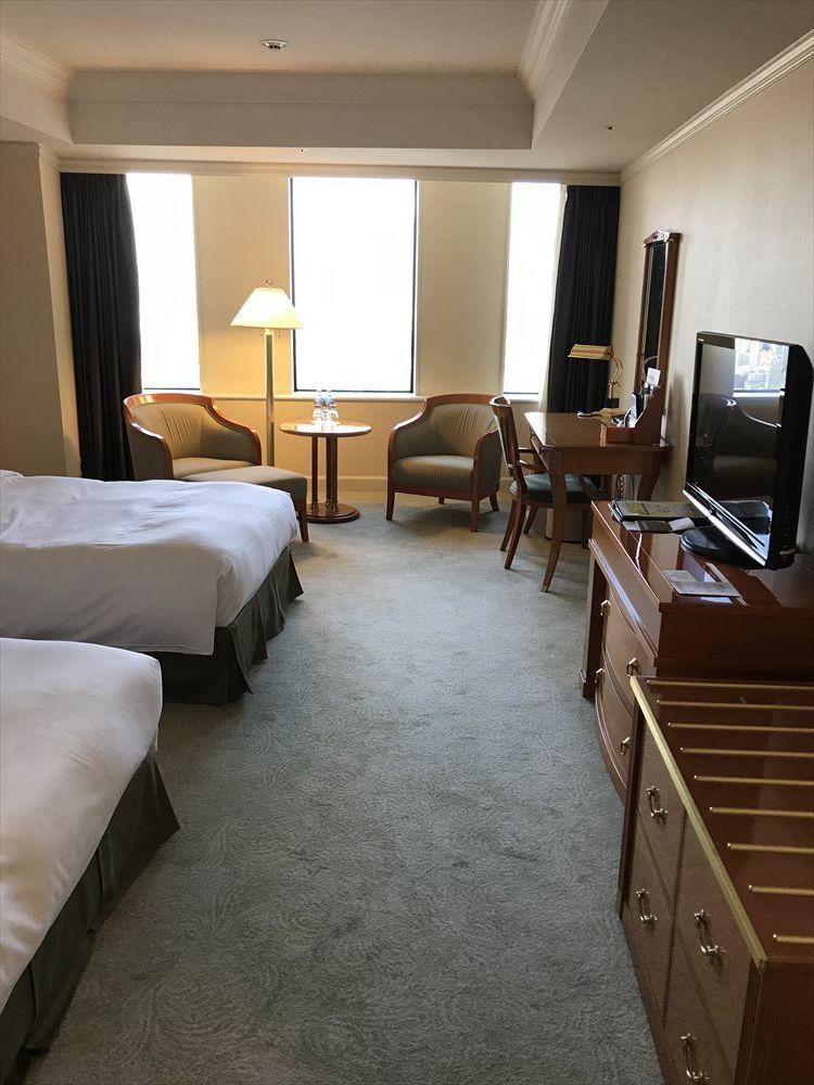 名古屋マリオットアソシアホテルのデラックスツインルーム(窓側)