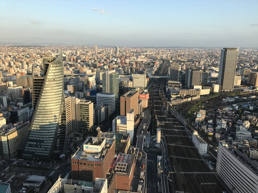 名古屋マリオットアソシアホテルからの眺め