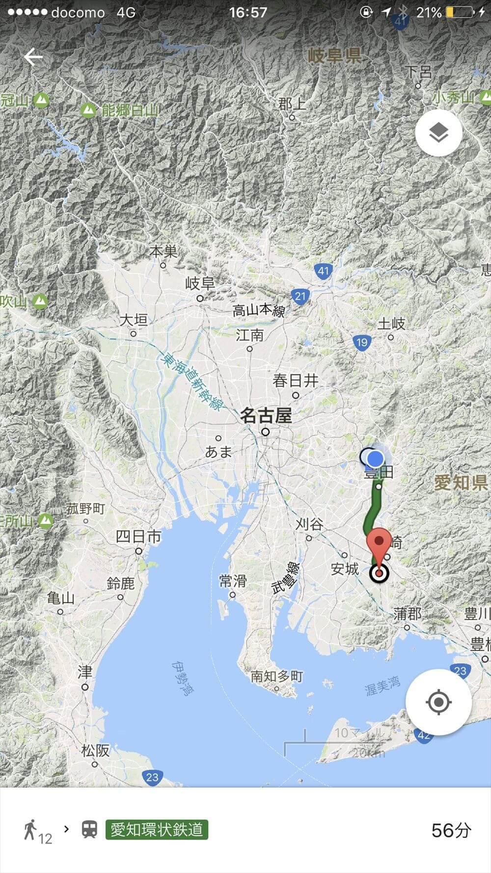 愛知環状鉄道線のルート