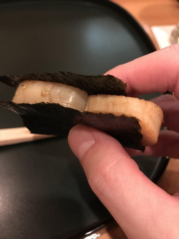 鮨 廣金の焼きタイラガイ