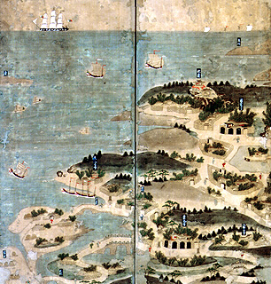 首里那覇港図に描かれた長虹堤