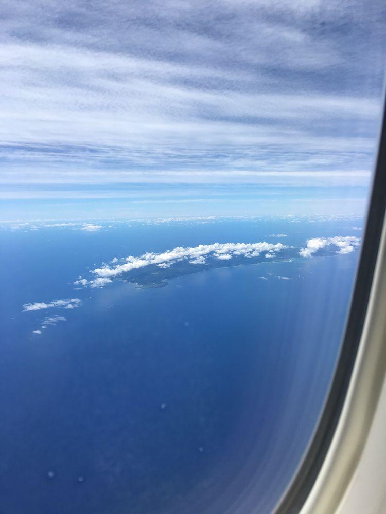 飛行機から見た沖縄本島