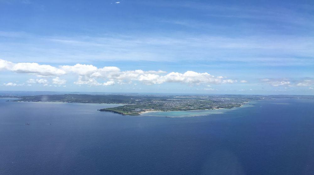 飛行機から見た日航アリビラ
