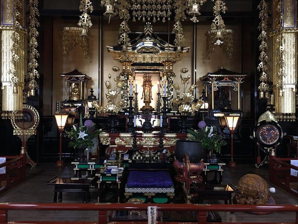 那覇の護国寺の本尊の聖観世音菩薩