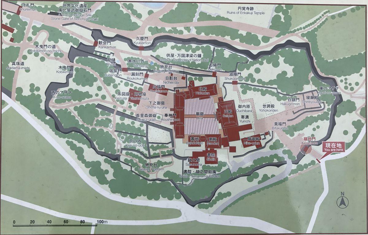 首里城の継世門の位置