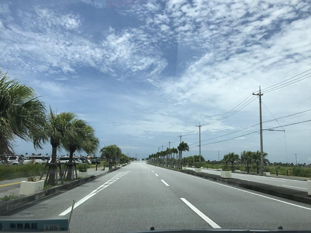 美らSUNビーチに続く道2