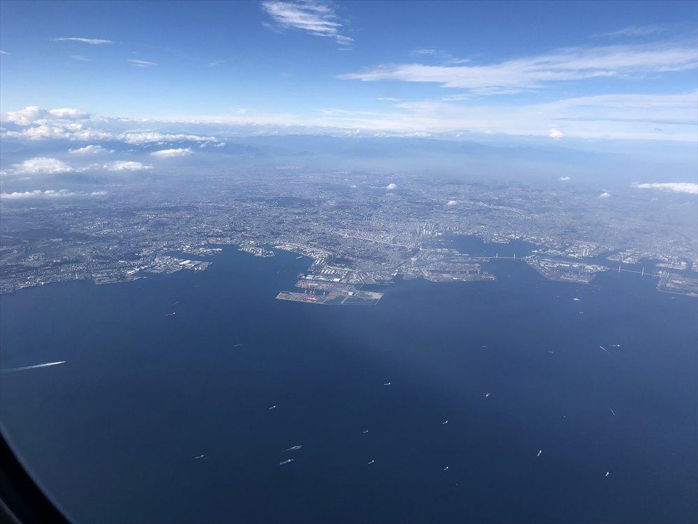ANA471便(羽田-那覇)からの東京上空