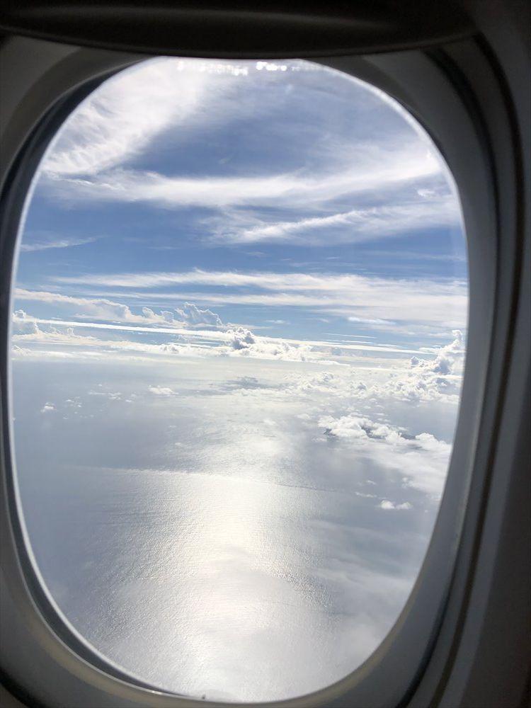 ANA471便(羽田-那覇)から沖縄上空
