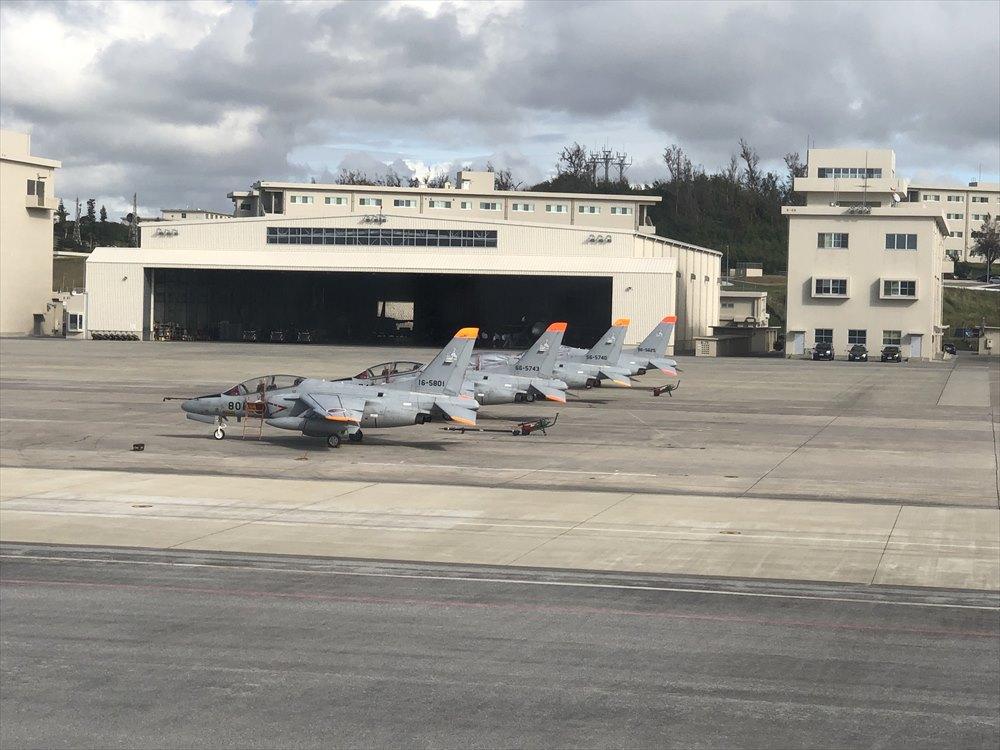 那覇空港の海上自衛隊の戦闘機