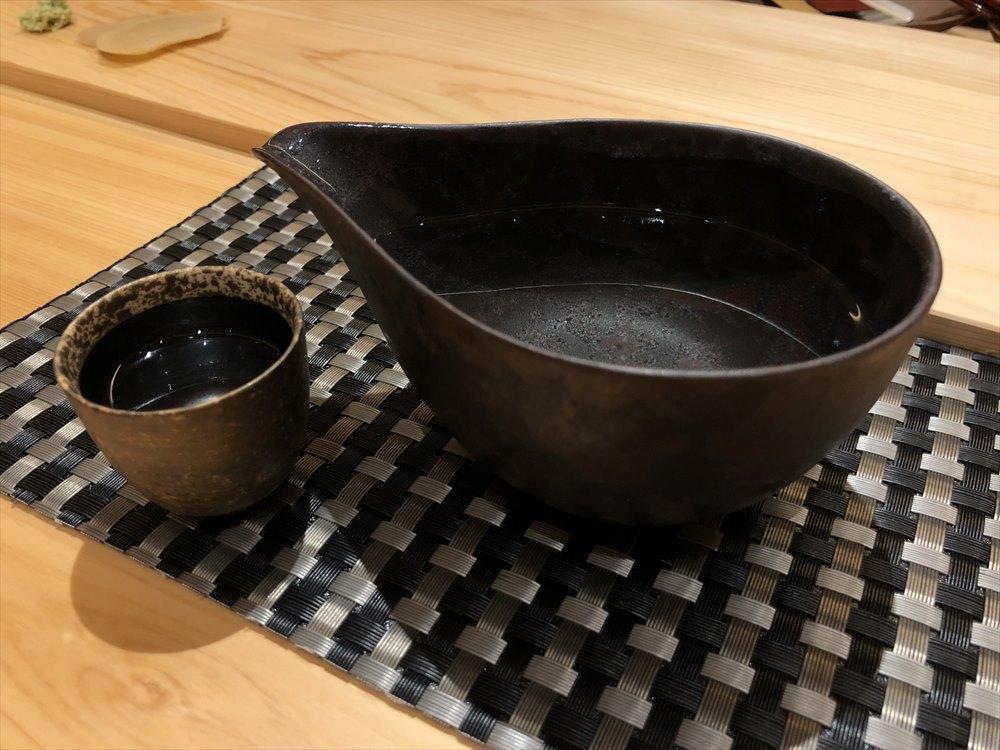 那覇の鮨かわごえの日本酒