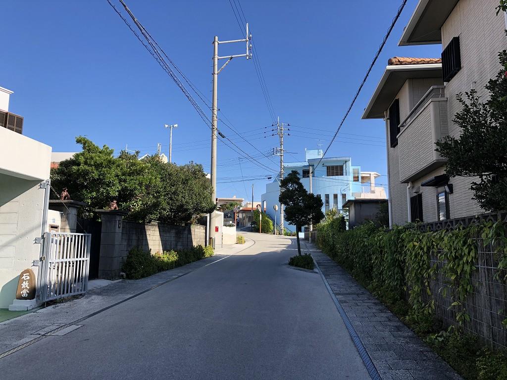 浦添グスクへの坂道