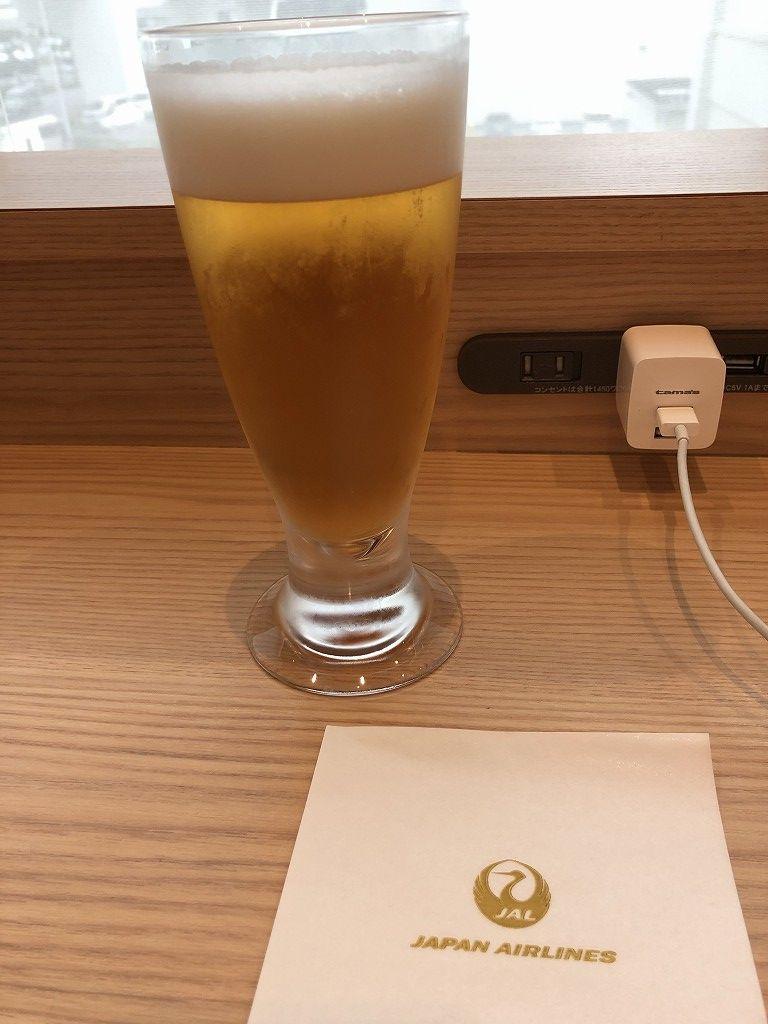 那覇空港のサクララウンジのオリオンビール