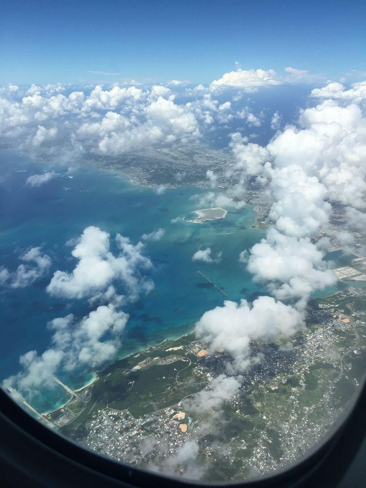 飛行機から撮影した辺野古上空