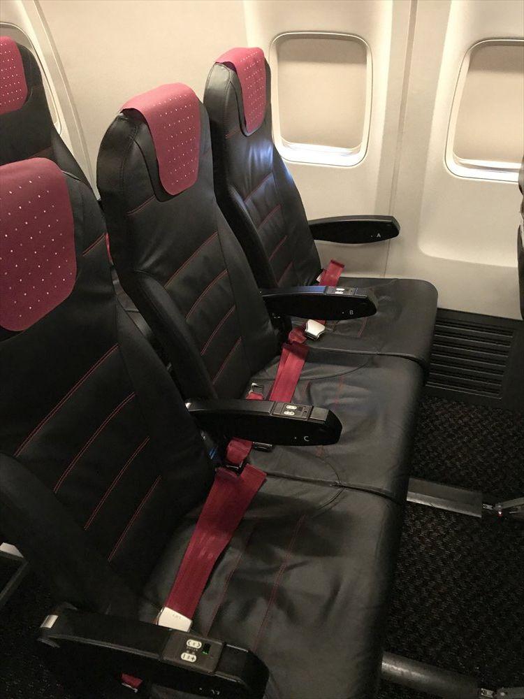 JAL231便の普通席